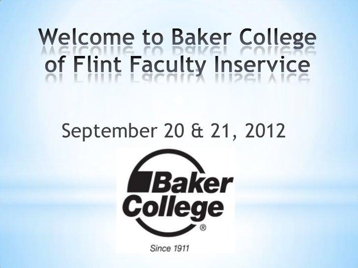 September 20 & 21, 2012