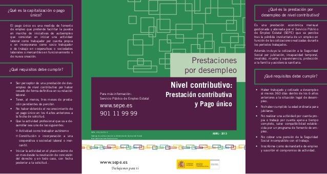 www.sepe.es Trabajamos para ti ABRIL - 2013 NIPO: 274-13-072-3 Catálogo de publicaciones de la Administración General del ...