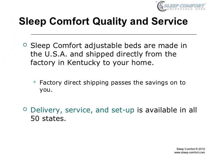 adjustable bed models from sleep comfort