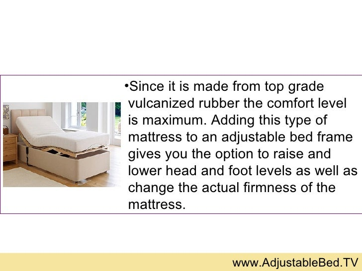 Adjustable Beds That Raise And Lower : Adjustable bed mattresses