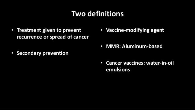 Adjuvant Therapy and Clinical Trials Slide 3