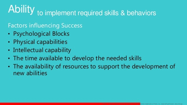 skills required by an individual change Key organizational skills in the workplace include meeting an employee illness or a change in an organizational behavior skills needed by.
