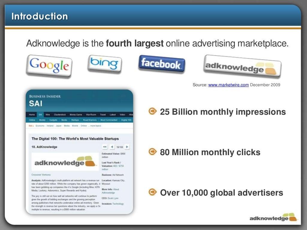 Adknowledge Ad Marketplace Bid System