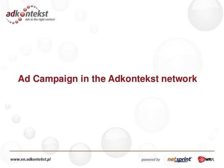 Ad Campaign in theAdkontekst network<br />