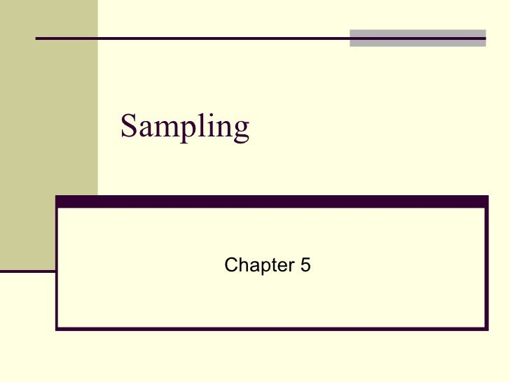 Sampling Chapter 5