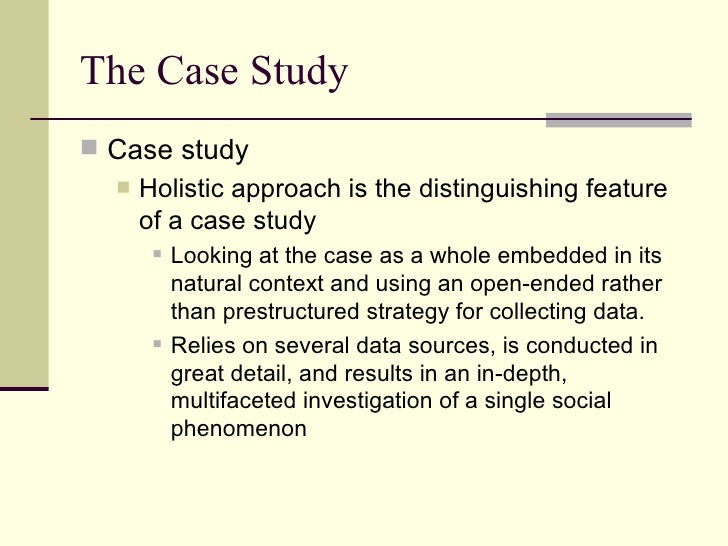 a case study is an intensive in depth investigation of an individual Because case studies provide a valuable vehicle for in-depth analyses used an intensive case study approach in the only in addition to the individual.