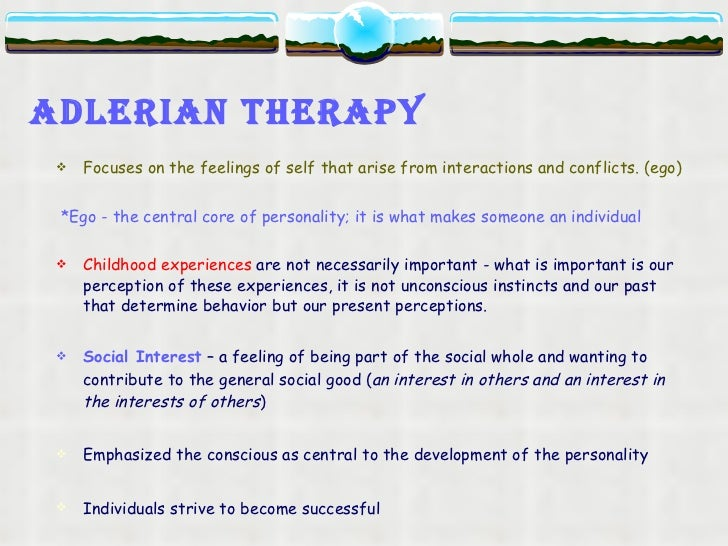 alderian theory Adlerian personality theory key concepts four counseling stages 1 establishing and maintaining a good working relationship 2 exploring clients dynamics.