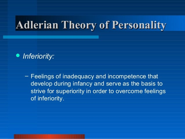 what are the weakness of adlerian Now jane and robert have created the lexicon of adlerian psychology: 106 terms associated with the individual psychology of alfred adler (second edition, 2007) you can get acquainted with them, their  thus the individual mitigates his sense of weakness in the anticipation of his redemption.