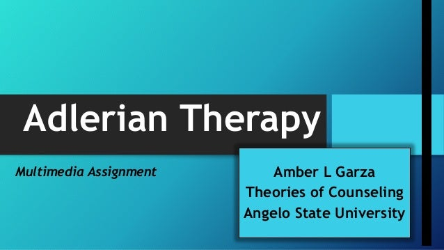 Cases of adlerian therapy