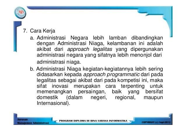 essay tentang administrasi niaga