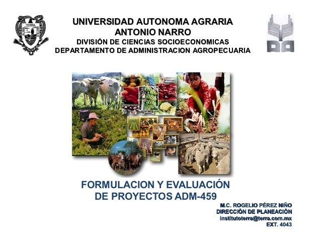 UNIVERSIDAD AUTONOMA AGRARIA           ANTONIO NARRO    DIVISIÓN DE CIENCIAS SOCIOECONOMICASDEPARTAMENTO DE ADMINISTRACION...