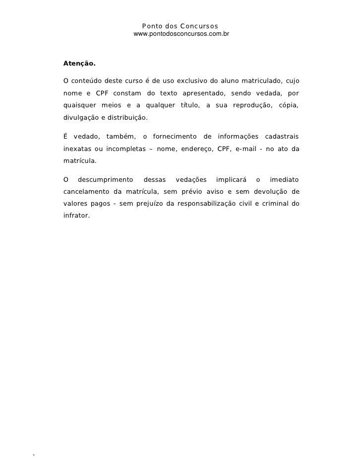 Ponto dos Concursos                                                                                              www.ponto...