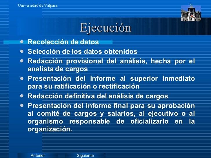 Ejecución <ul><li>Recolección de datos </li></ul><ul><li>Selección de los datos obtenidos </li></ul><ul><li>Redacción prov...