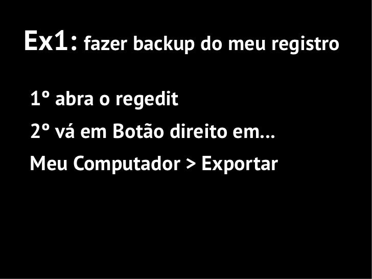 Ex2: fazer meu i3 virar um i71º abra o regedit2º vá em ...HKEY_LOCAL_MACHINE/HARDWARE/DESCRIPTION/System/CentralProcessor/...