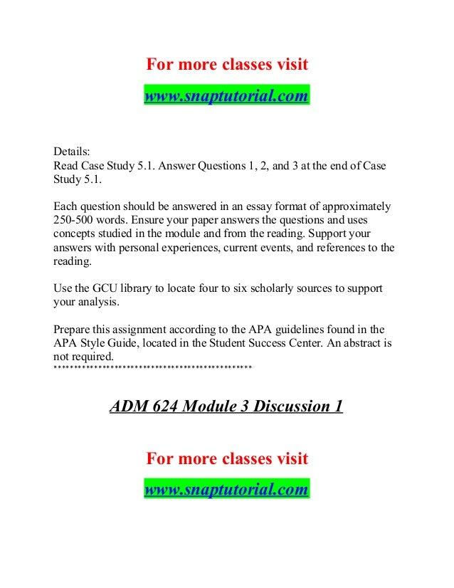 Adm 624 Believe Possibilities / snaptutorial com