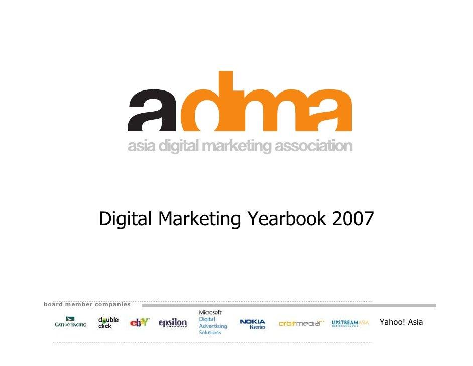 Digital Marketing Yearbook 2007    board member companies                                                  Yahoo! Asia