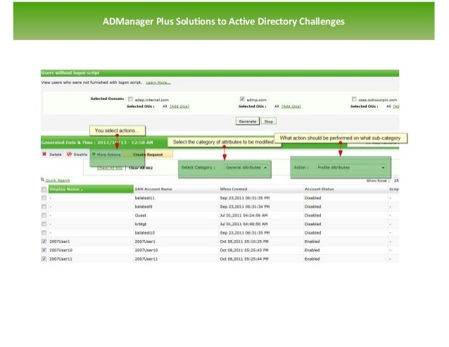 `   ADManager Plus Solutions to Active Directory Challenges
