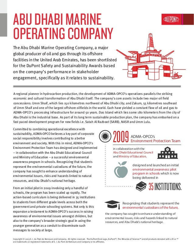 A regional pioneer in hydrocarbon production, the development of ADMA-OPCO's operations parallels the striking economic an...