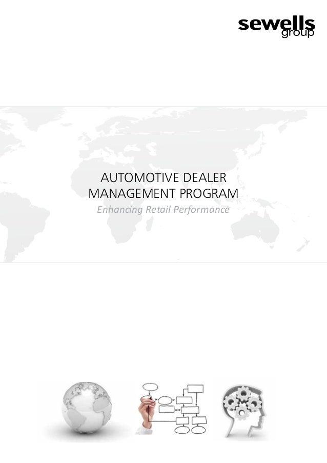 AUTOMOTIVE DEALERMANAGEMENT PROGRAMEnhancing Retail Performance