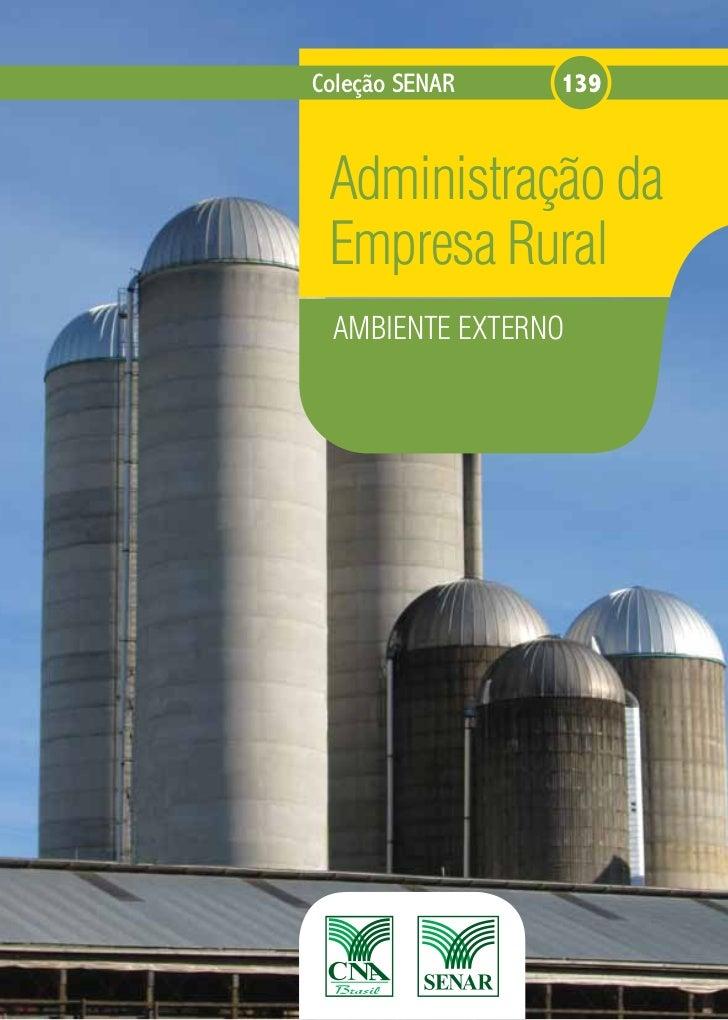 Coleção SENAR   139 Administração da Empresa Rural AMBIENTE EXTERNO