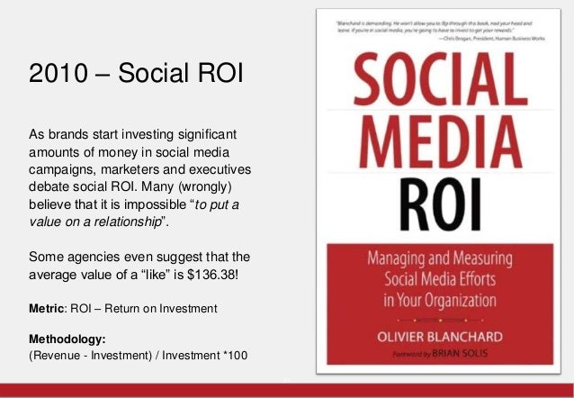 2010 – Social ROI      As brands start investing significant      amounts of money in social media      campaigns, markete...