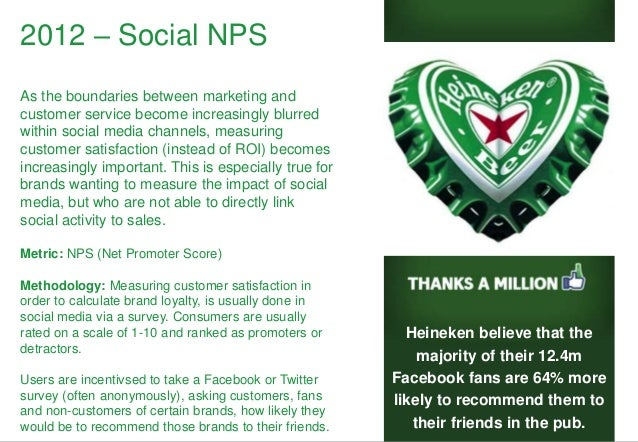2012 – Social NPS As the boundaries between marketing and customer service become increasingly blurred within social media...