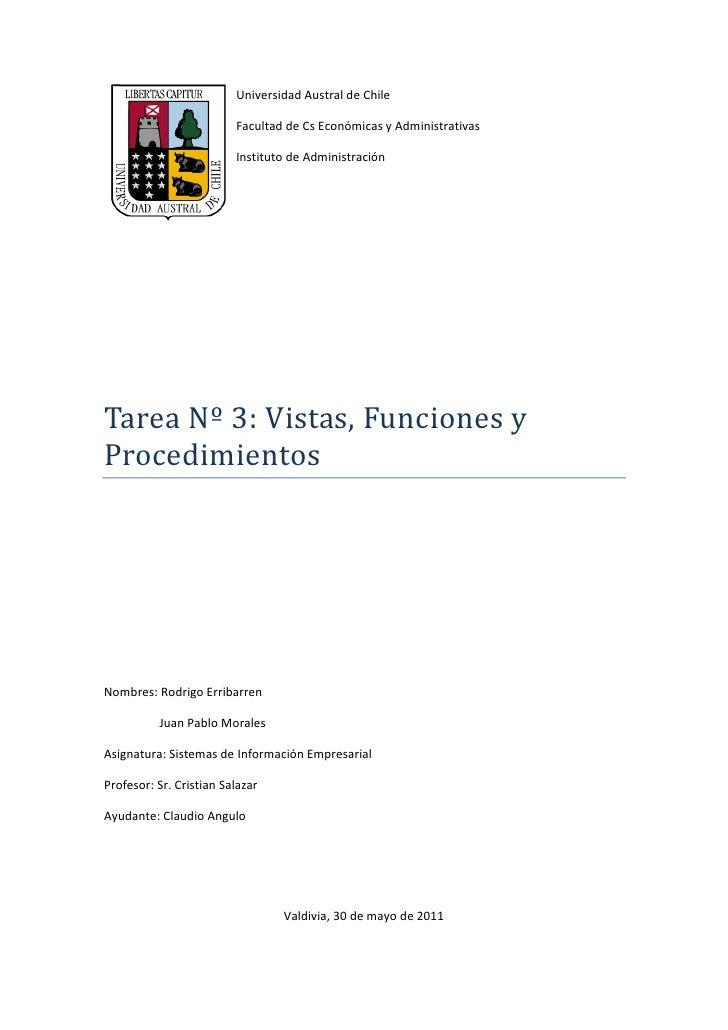 Universidad Austral de Chile                         Facultad de Cs Económicas y Administrativas                         I...