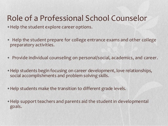 Asca Roles Of A School Counselors