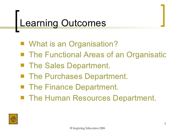 Unit 3 - Role of Functional Departments Slide 2