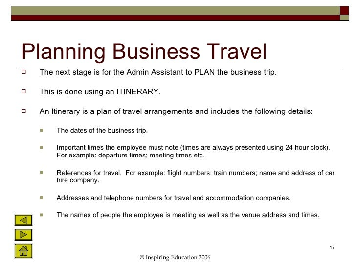 unit 5 arranging and paying for business travel accommodation