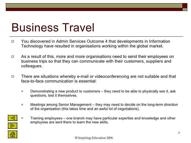 Organise business travel