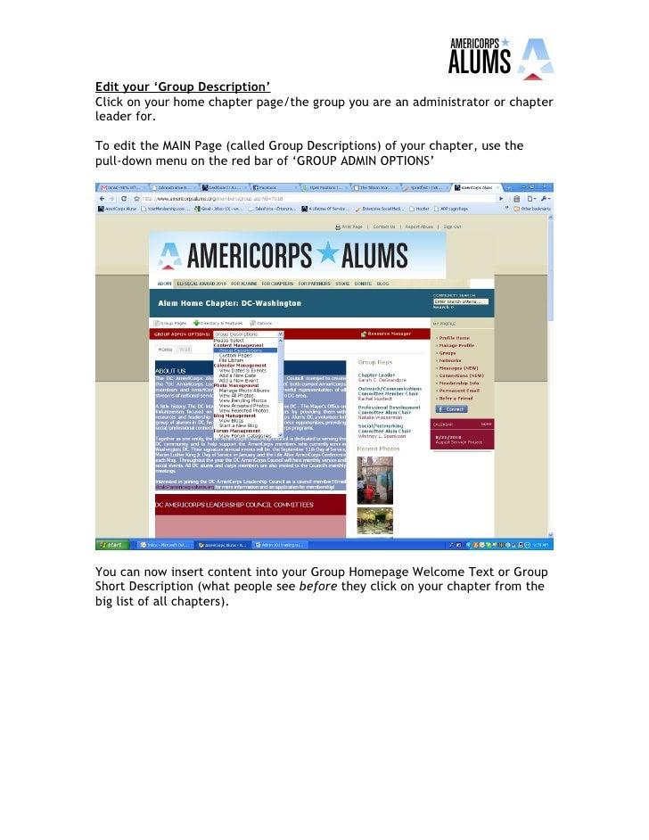 AmeriCorps Alums Online Admin Training 101