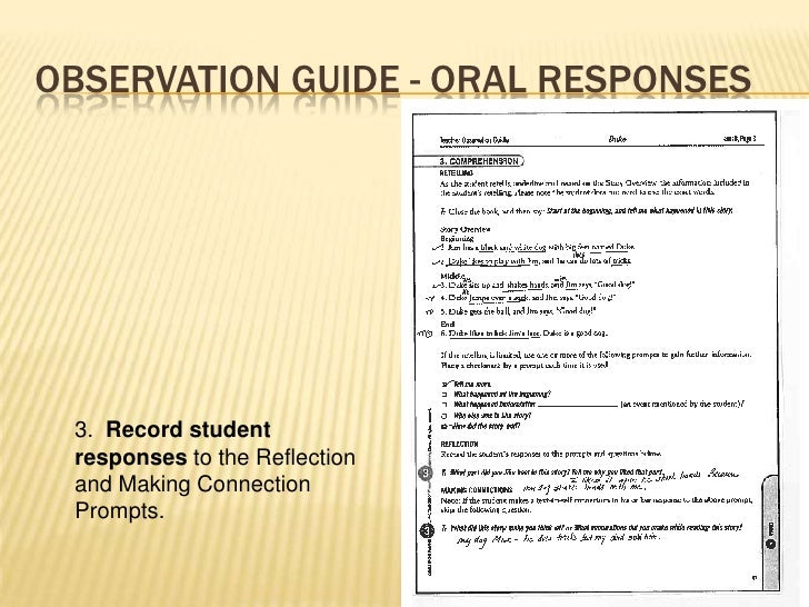 administering the dra 2 diagnostic reading assessment rh slideshare net Blank Observation Sheets Behavior Observation Data Sheet