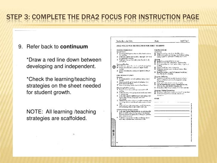 administering the dra 2 diagnostic reading assessment rh slideshare net Teacher Observation Sheet Observation Hours Sheet