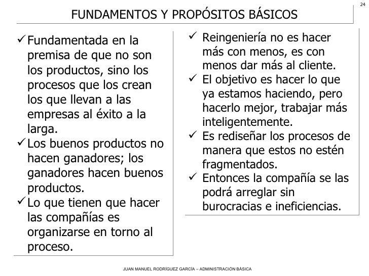 <ul><li>Fundamentada en la premisa de que no son los productos, sino los procesos que los crean los que llevan a las empre...