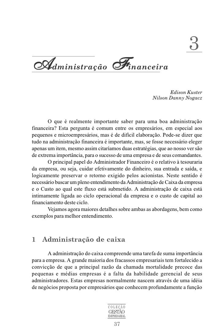3Administração Financeira                                                              Edison Kuster                      ...