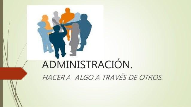 Administraci n y su definici n for Oficina definicion