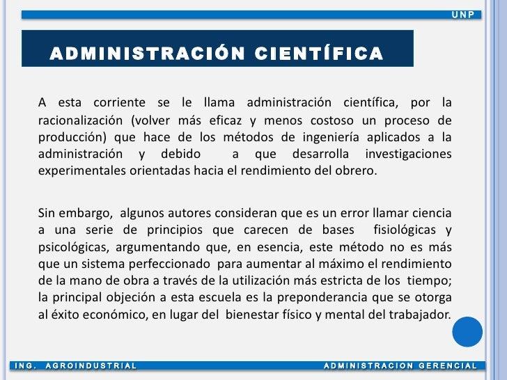 Irene Cruz >> Administración cientifica