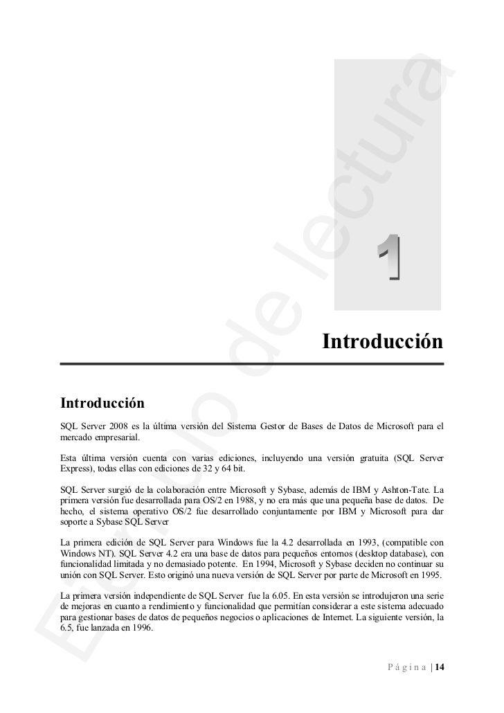 En 1998, Microsoft lanzó SQL Server 7.0, que supuso un cambio en cuanto a su situación en elmercado de los RDBMS. El gran ...
