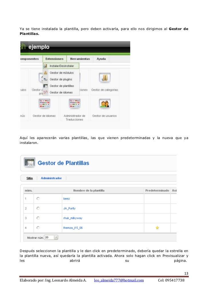 Administración del sitio web avanzado