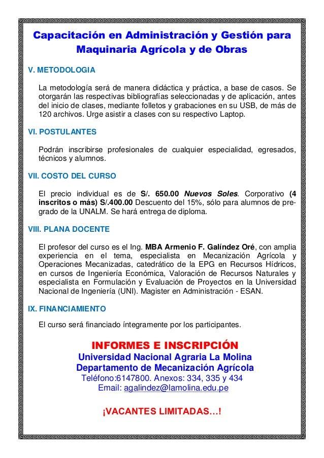 Administraci n de maquinaria agr cola y de obras octubre 2015 for Maquinaria y utensilios para la produccion culinaria