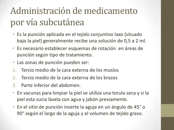 Administración de medicamentos por vía parenteral