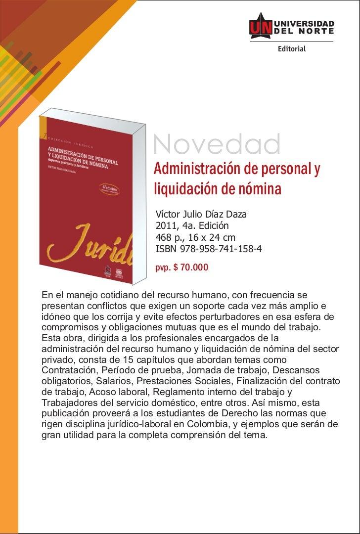 Novedad                           Administración de personal y                           liquidación de nómina            ...