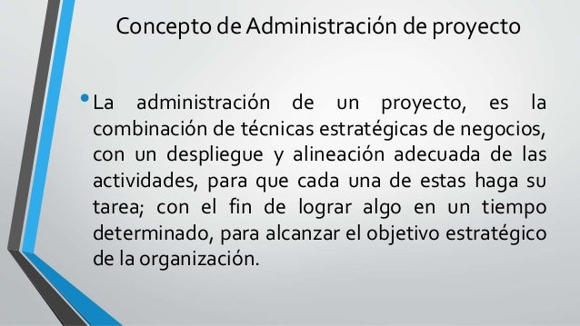 Elaboraci n administraci n y evaluaci n de proyectos for Administracion de proyectos