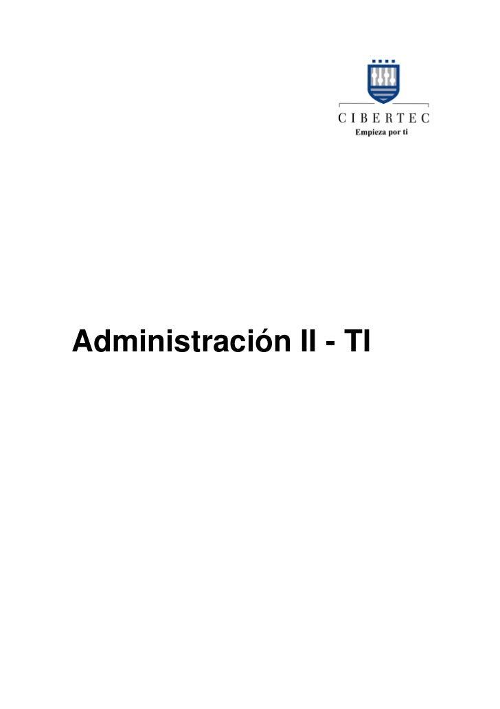 Administración II - TI