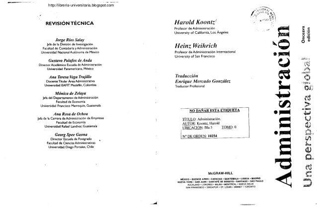 koontz and weihrich Harold koontz, heinz weihrich principles of management †koontz and o'donnell books by harold koontz (author of essentials of management)management : a global perspective / heinz weihrich, harold.