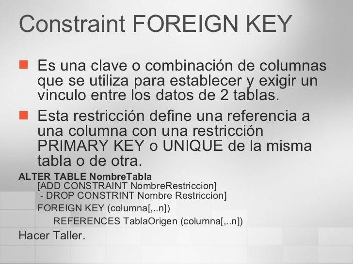 Administraci n y programaci n en sql server - Alter table add foreign key ...