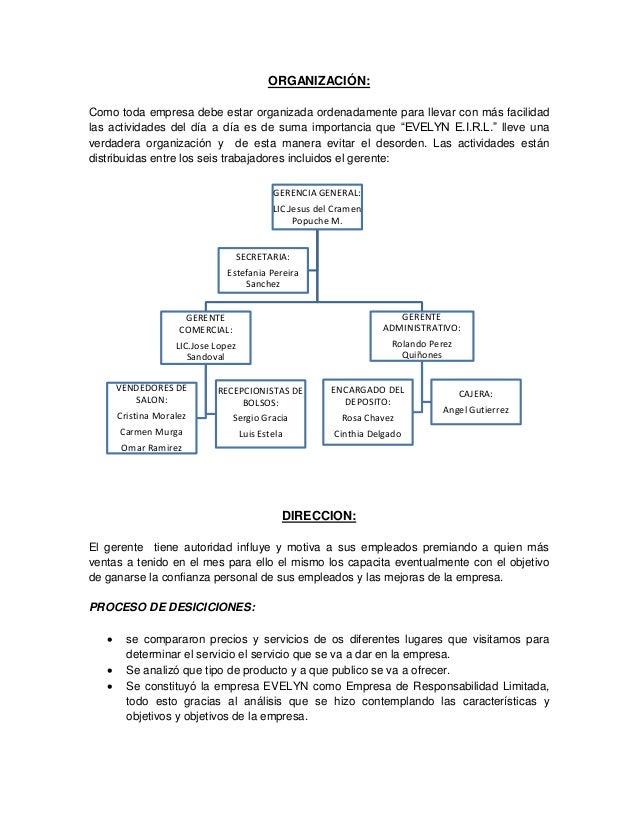 Proceso administrativo aplicado a una empresa de calzado Manual de procesos y procedimientos de una empresa de alimentos