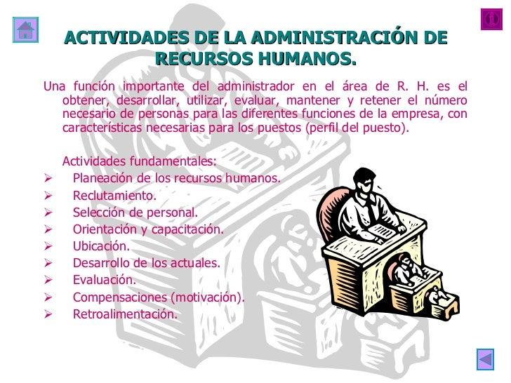 Administracion de recursos humanos for Cuales son las caracteristicas de la oficina