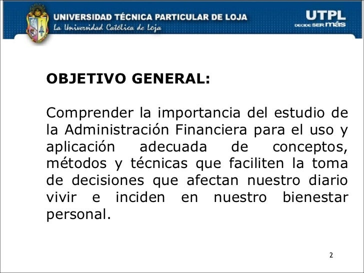 Administracion financiera for Importancia de la oficina